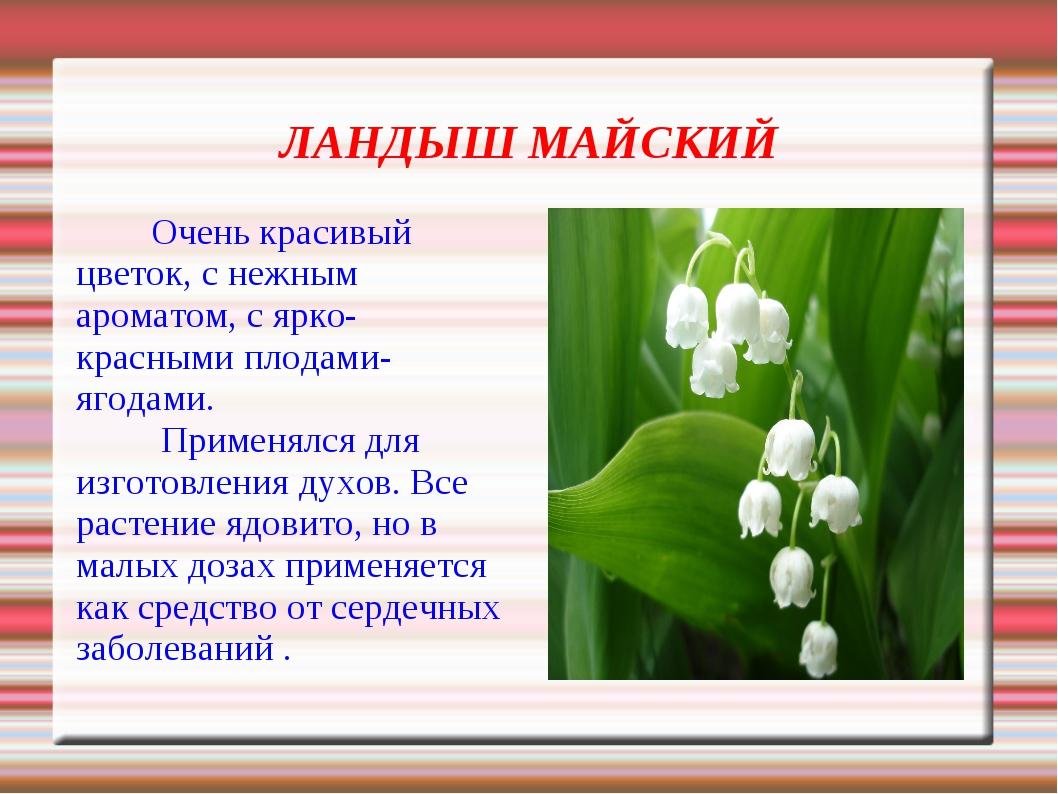 Что занесено в красную книгу россии информация ландыш