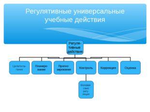 Регулятивные универсальные учебные действия