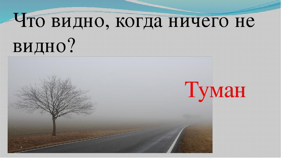 Что видно, когда ничего не видно? Туман