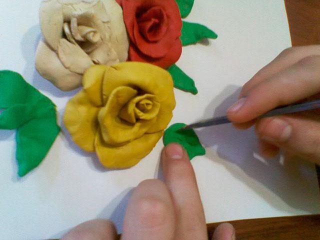 Картины своими руками фото из пластилина