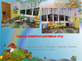 Центр сюжетно-ролевых игр Атрибуты для сюжетно-ролевых игр : «Магазин», «Докт