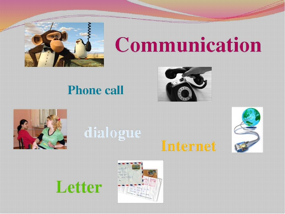 Communication Letter dialogue Phone call Internet