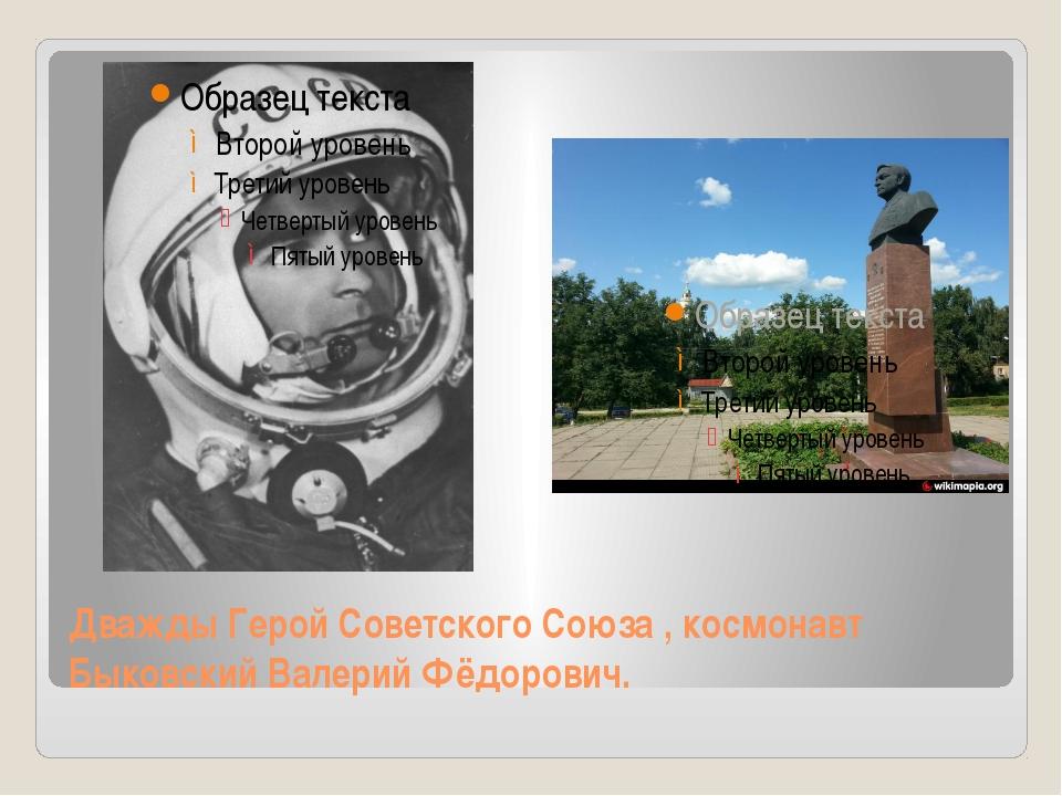 Дважды Герой Советского Союза , космонавт Быковский Валерий Фёдорович.