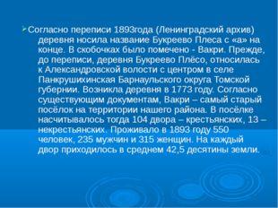 Согласно переписи 1893года (Ленинградский архив) деревня носила название Букр