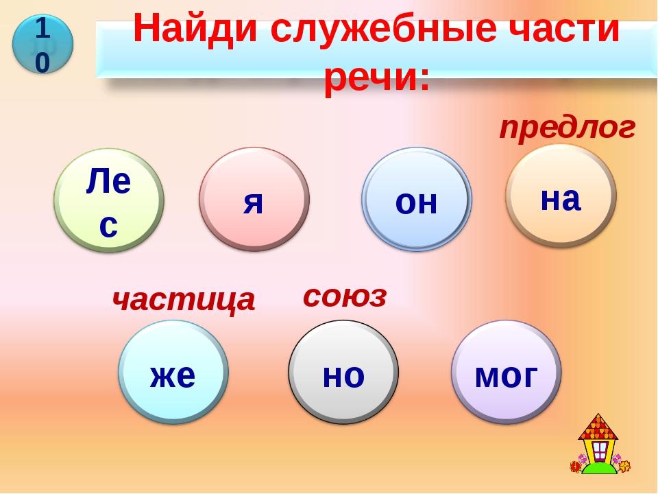 предлог частица союз