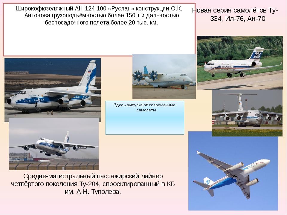 Средне-магистральный пассажирский лайнер четвёртого поколения Ту-204, спроект...