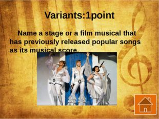 Characters: 1 point What musical character came from the easterly wind with a