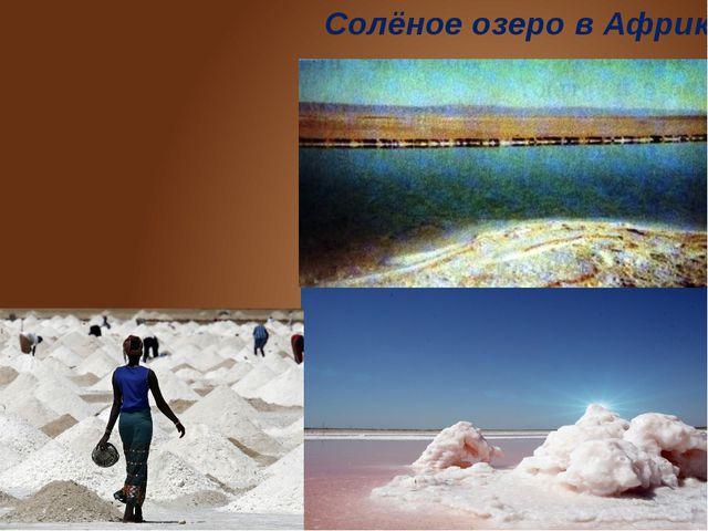 Солёное озеро в Африке