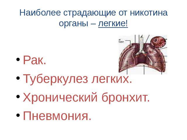 Наиболее страдающие от никотина органы – легкие! Рак. Туберкулез легких. Хрон...