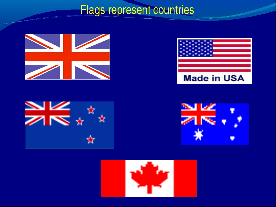 Flags represent countries