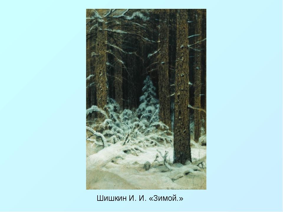 Шишкин И. И. «Зимой.»