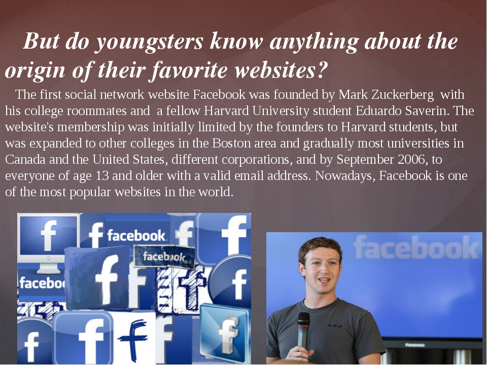 But do youngsters know anything about the origin of their favorite websites?...