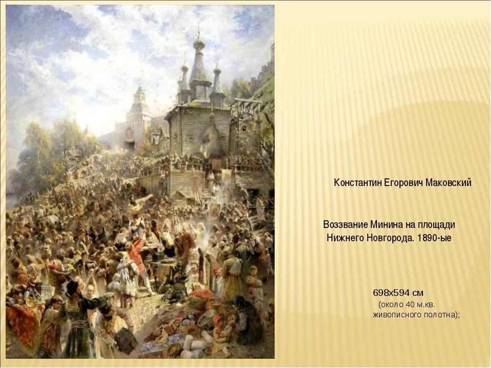 Воззвание Минина на площади Нижнего Новгорода. 1890-ые Константин Егорович Ма...