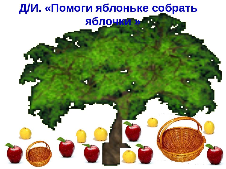 Д/И. «Помоги яблоньке собрать яблочки »