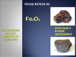 ОКСИД ЖЕЛЕЗА (III) КРАСНЫЙ И БУРЫЙ ЖЕЛЕЗНЯКИ Fe2O3