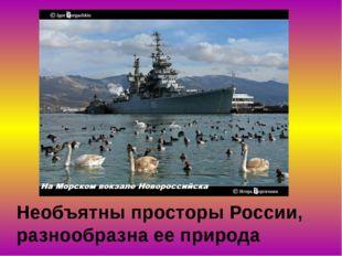 Необъятны просторы России, разнообразна ее природа