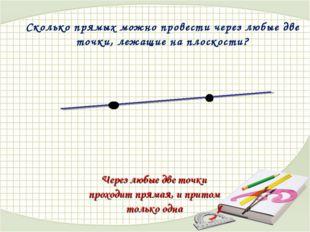 Сколько прямых можно провести через любые две точки, лежащие на плоскости? Че