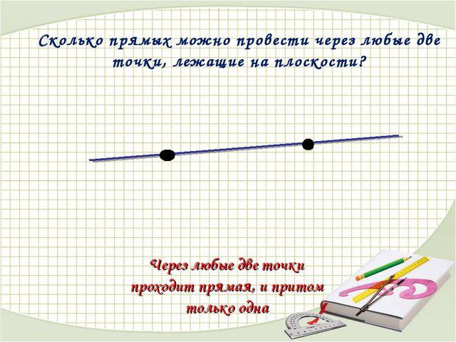Сколько прямых можно провести через любые две точки, лежащие на плоскости? Че...