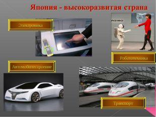 Автомобилестроение Робототехника Транспорт Электроника