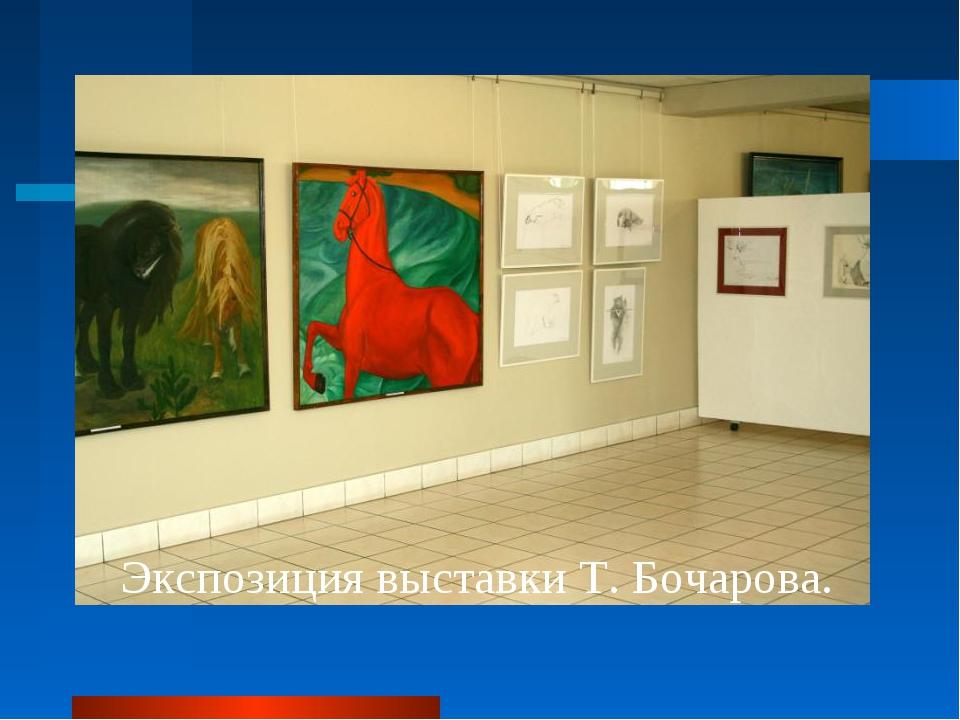 Экспозиция выставки Т. Бочарова.