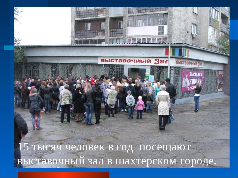 15 тысяч человек в год посещают выставочный зал в шахтерском городе.