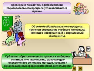 Субъекты образовательного процесса выбирают оптимальную технологию, включающу
