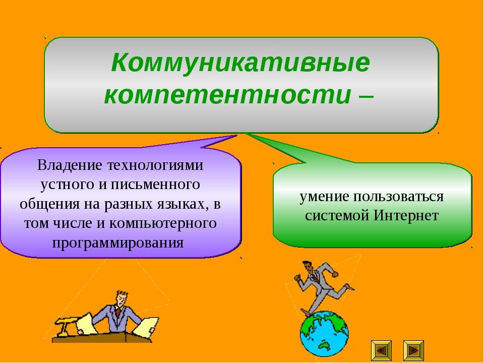 Владение технологиями устного и письменного общения на разных языках, в том ч...