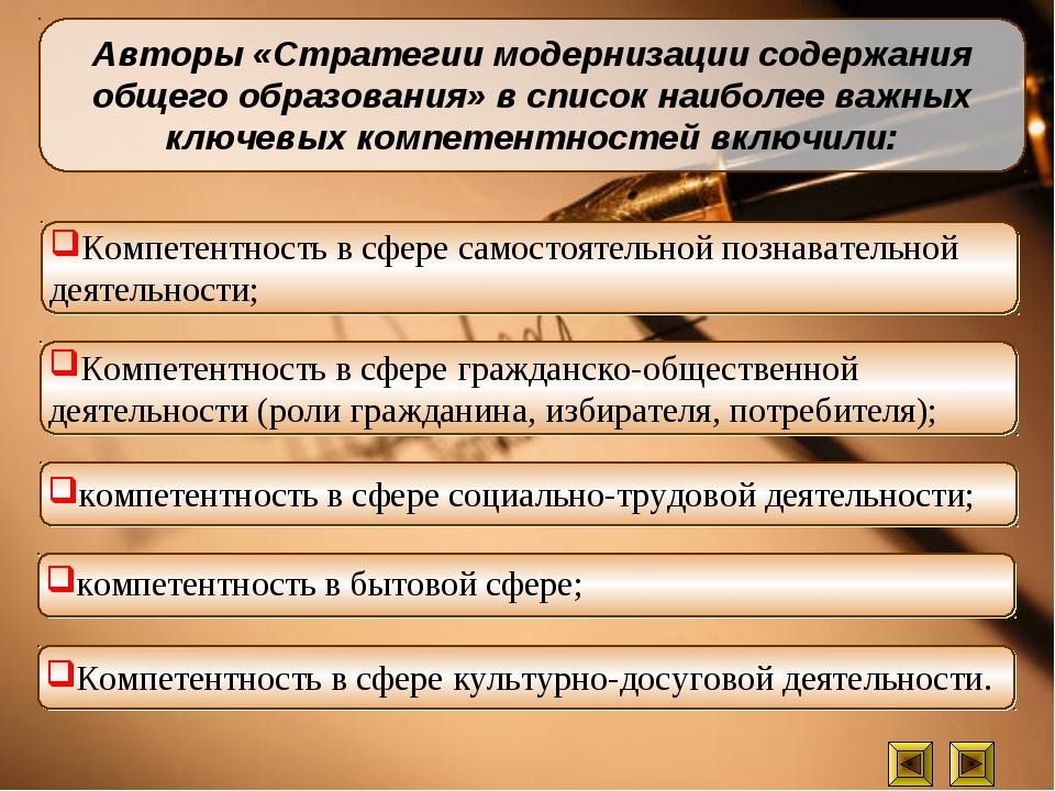 Авторы «Стратегии модернизации содержания общего образования» в список наибол...