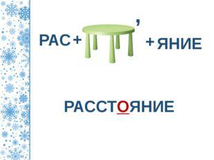 РАССТОЯНИЕ РАС + , + ЯНИЕ ©Коломина