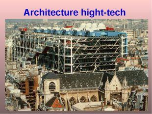 Architecture hight-tech