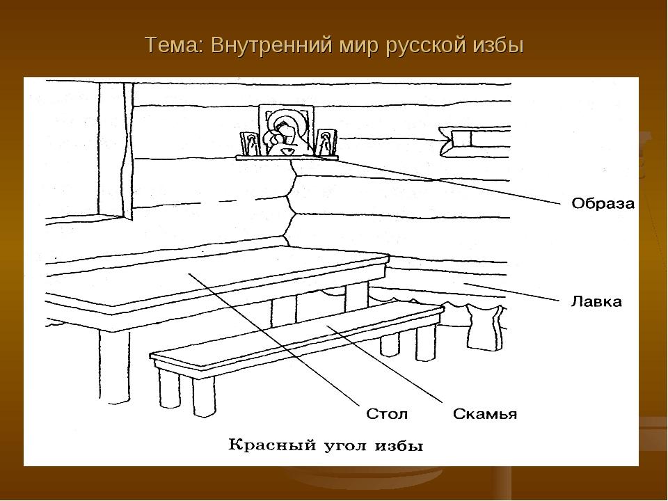Тема: Внутренний мир русской избы