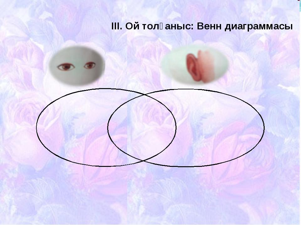 ІІІ. Ой толғаныс: Венн диаграммасы