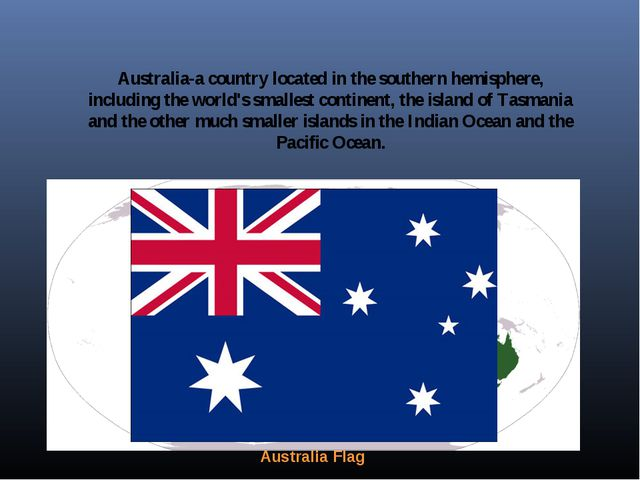 Australia-a country located in the southern hemisphere, including the world's...