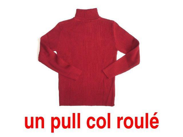 un pull col roulé