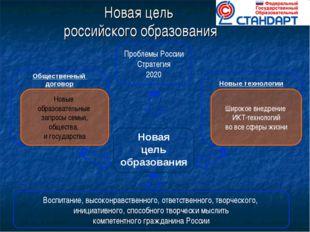 Новая цель российского образования Новая цель образования Новые технологии О