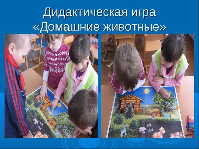 Дидактическая игра «Домашние животные»