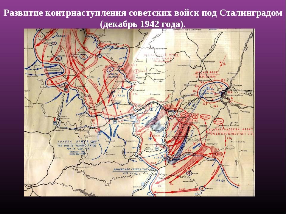 Развитие контрнаступления советских войск под Сталинградом (декабрь 1942 года).