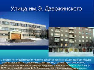 Улица им.Э. Дзержинского С первых лет существования Апатиты остаются одним из