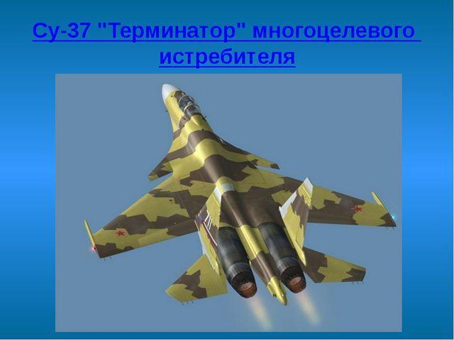 """Су-37 """"Терминатор"""" многоцелевого истребителя"""
