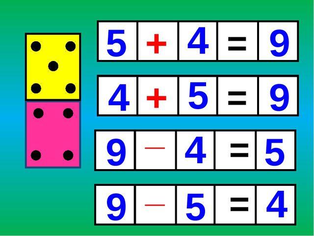 + + _ _ = = = = 5 5 5 4 4 4 9 9 9 9 5 4