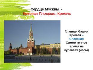 Сердце Москвы - Красная Площадь, Кремль Главная башня Кремля – Спасская Самое