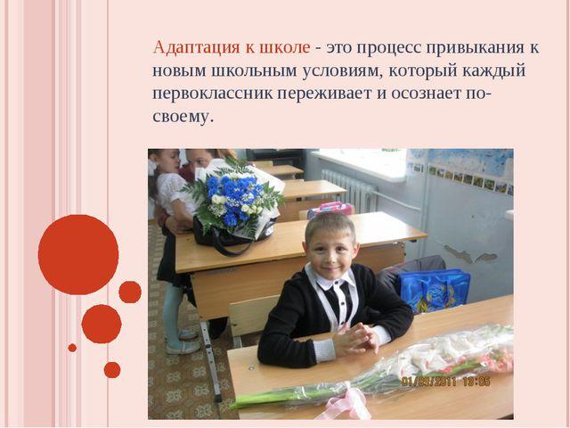 Адаптация к школе - это процесс привыкания к новым школьным условиям, который...