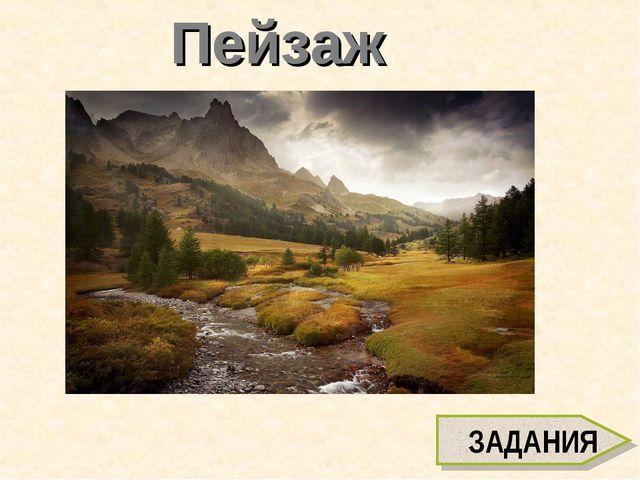 Пейзаж ЗАДАНИЯ