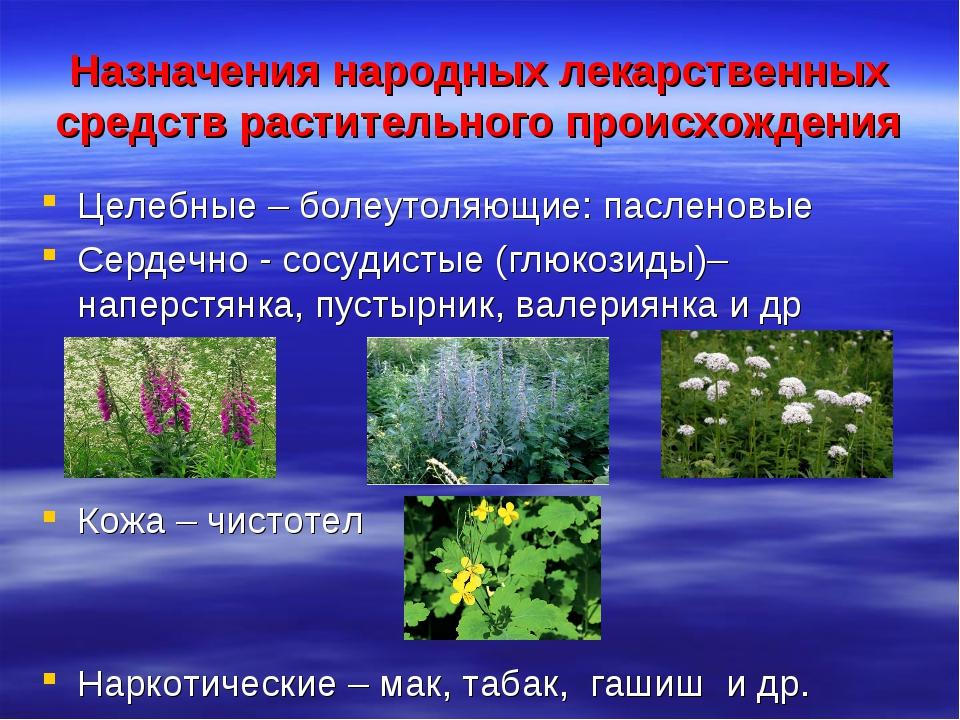 Назначения народных лекарственных средств растительного происхождения Целебны...