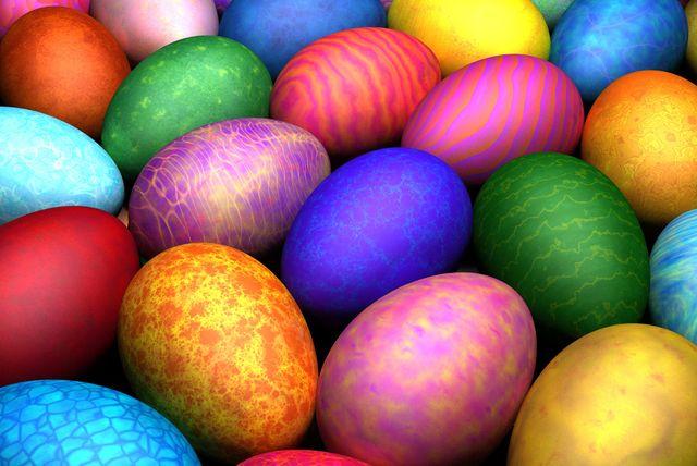Красим яйца к празднику Пасхи. . Мастер класс и видео. . - Праздник