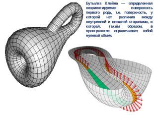 Бутылка Клейна — определенная неориентируемая поверхность первого рода, т.е.