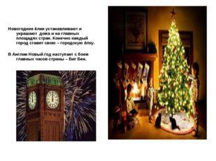 Новогодние ёлки устанавливают и украшают дома и на главных площадях стран. К