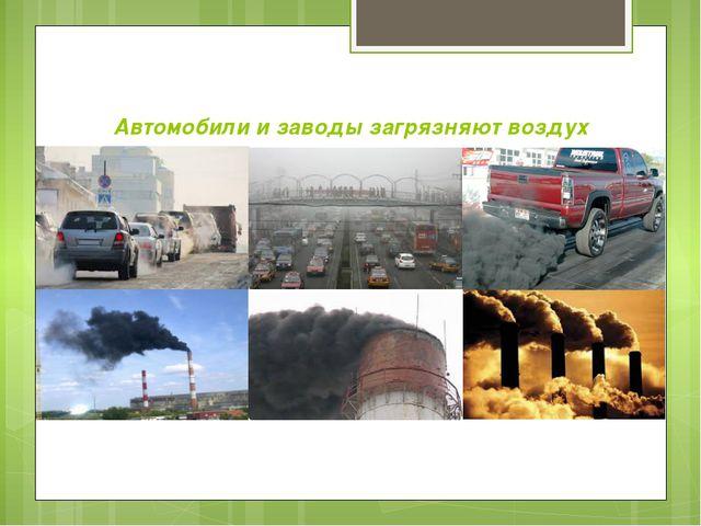 Автомобили и заводы загрязняют воздух