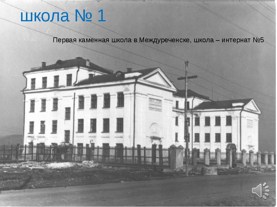 школа № 1 Первая каменная школа в Междуреченске, школа – интернат №5