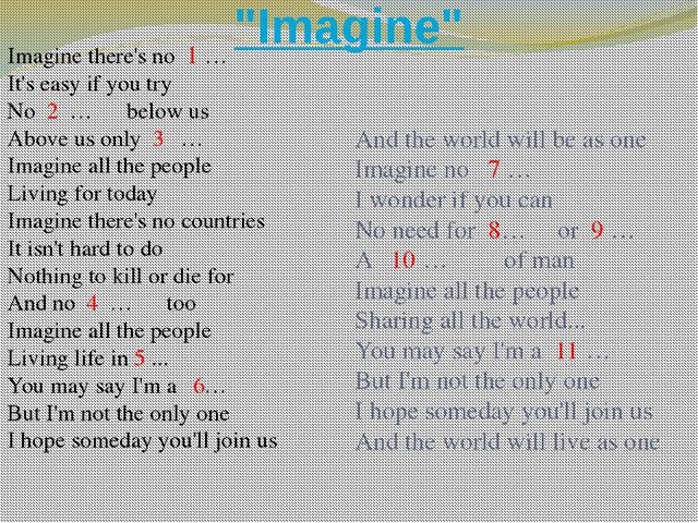 """Imagine"" Imagine there's no 1 … It's easy if you try No 2 … below us Above u..."